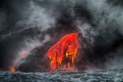 Lava Ocean Entry | by PictureOnTheWall