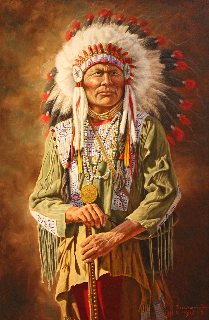 a native american chief a painting of the native american flickr