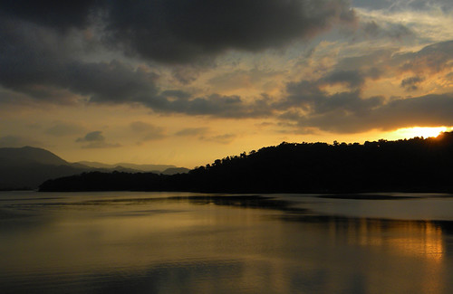 Sunset on Arenas Lake in Costa Rica