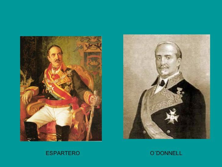 Retratos de O´Donnell y Espartero