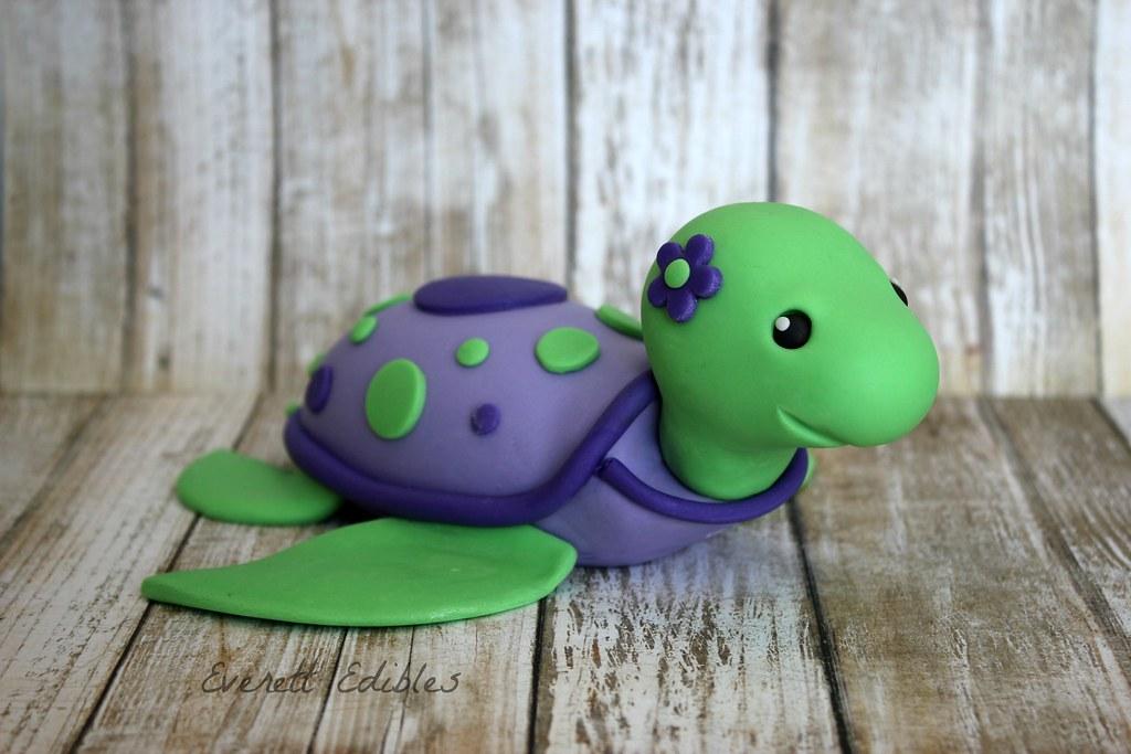 Fondant Sea Turtle Cake Decoration Birthday Cake Created B Flickr