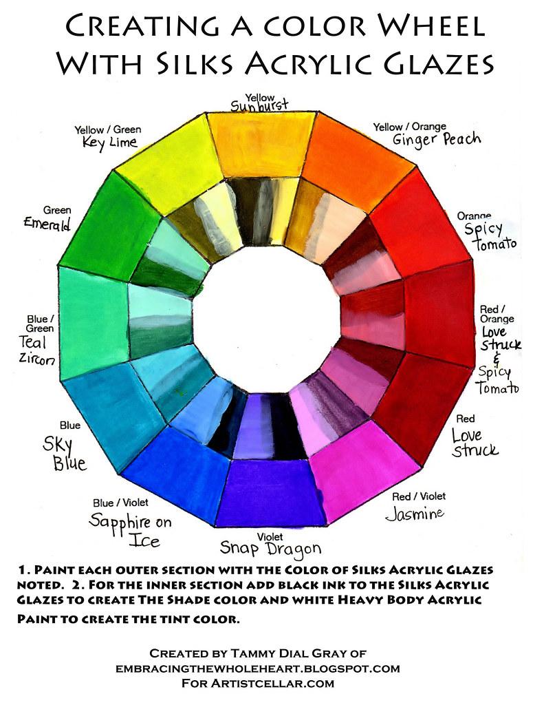 Creating A Color Wheel With Silks Acrylic Glazes