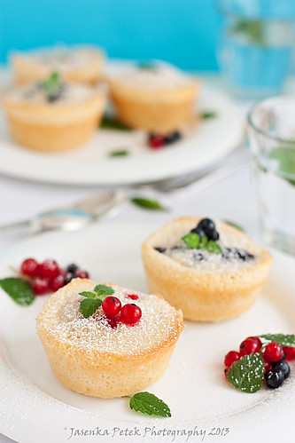 Friands with blueberries and red currants | by Sweet Corner1