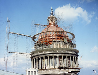 Dome Paint Stripped and Scaffold 1960 | by USCapitol