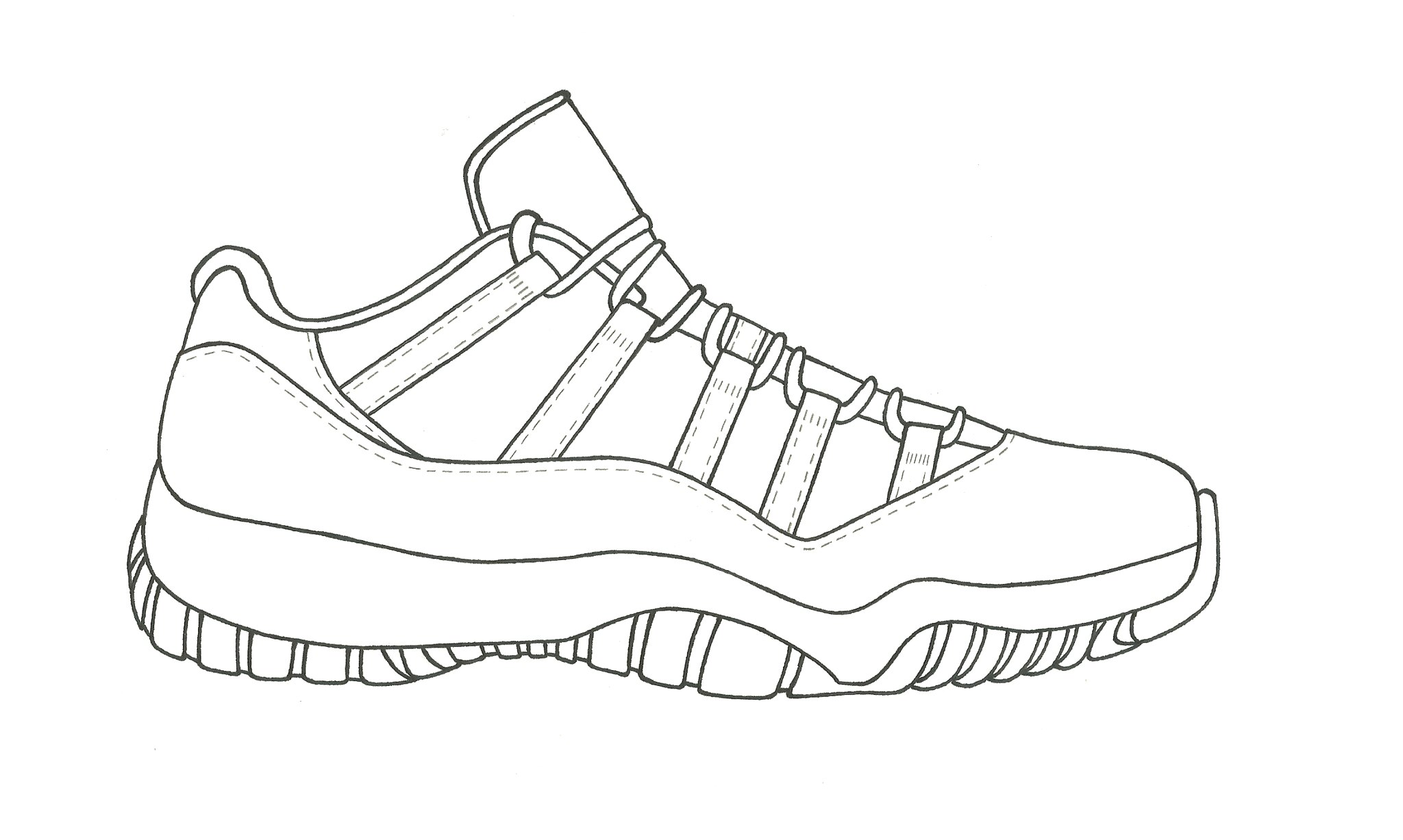 how to draw air jordan 11 step by step