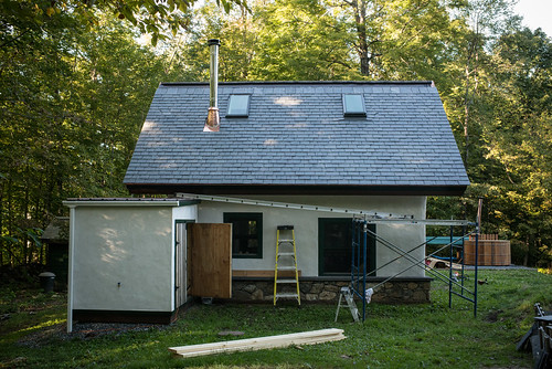 Slate Roof on Cottage (Halfway) Complete! | by goingslowly
