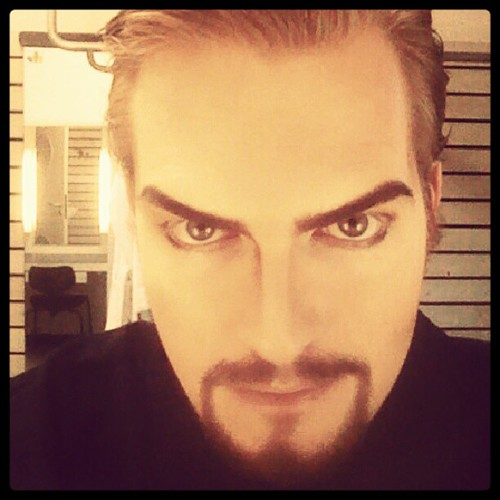 Sporting quite the evil baritone look today..a Kwieczen goatee and all! :D | by Findo