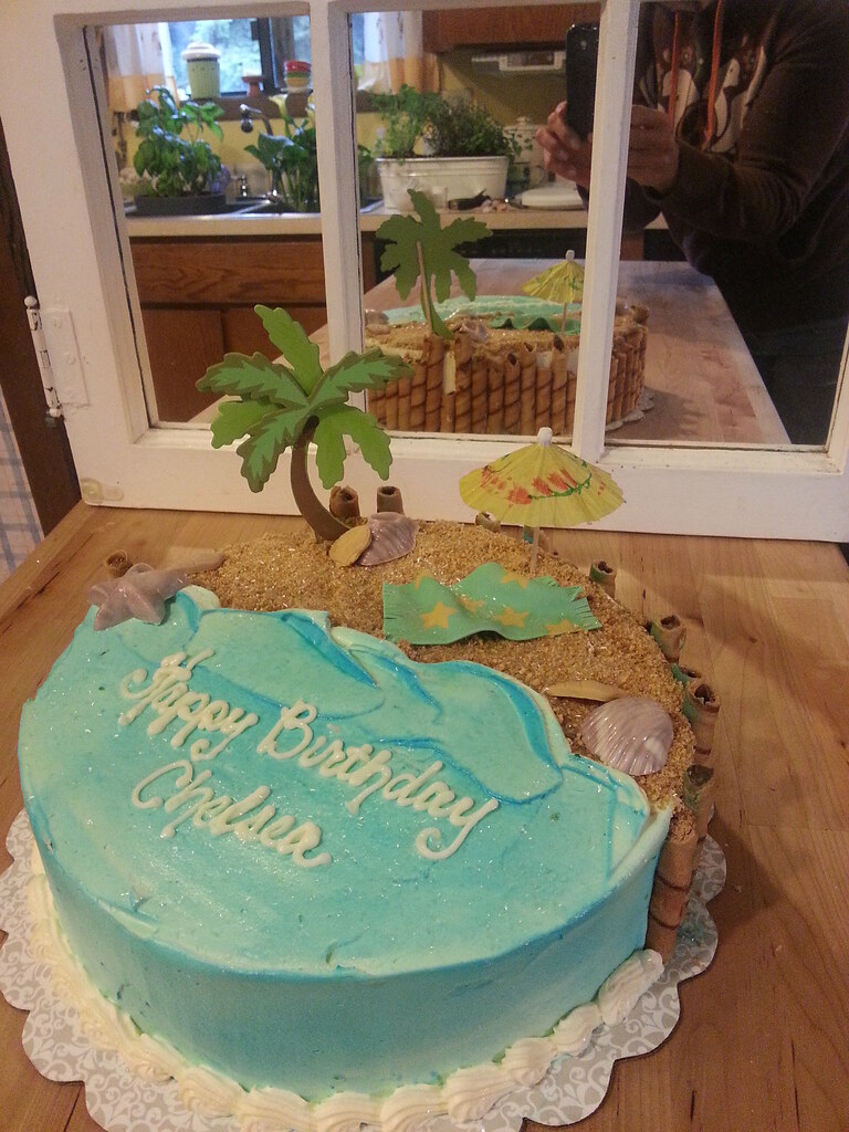 Beach Themed Birthday Cake Traci Aiello Flickr