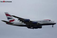 G-XLEJ - 192 - British Airways - Airbus A380-841 - Heathrow - 161127 - Steven Gray - IMG_6485
