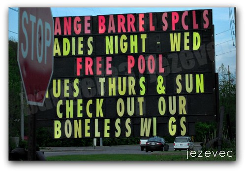 2012-04-19 Funny Sign - Boneless Wigs | by Badger 23 / jezevec