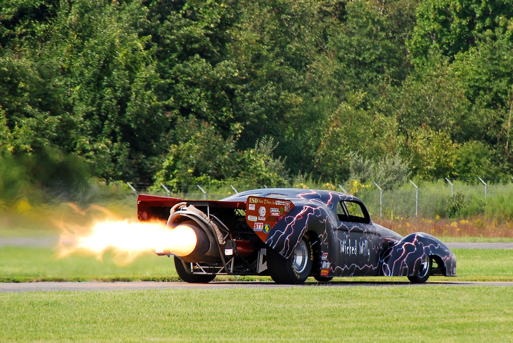 Jet car \'Wicked Willy\' at the Greenwood Lake Air and Car s… | Flickr