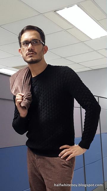 halfwhiteboy velvet suit and waffle sweater 03