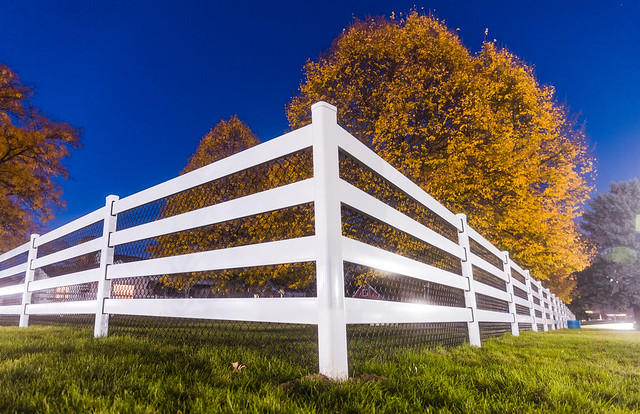 Twilight Fence Corner