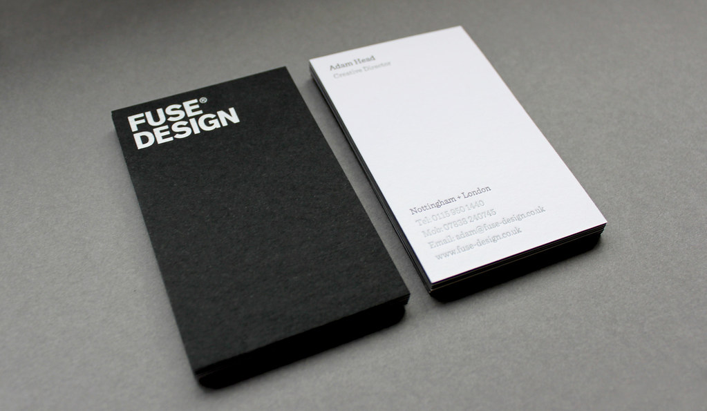 Fuse Busines Card | Our new business cards are triplexed car… | Flickr