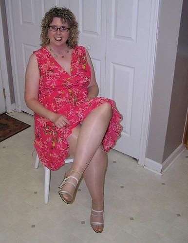 Mature crossed legs flickr