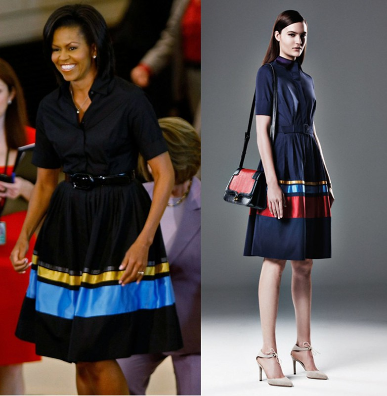 Michelle Obama wearing Sophie Theallet