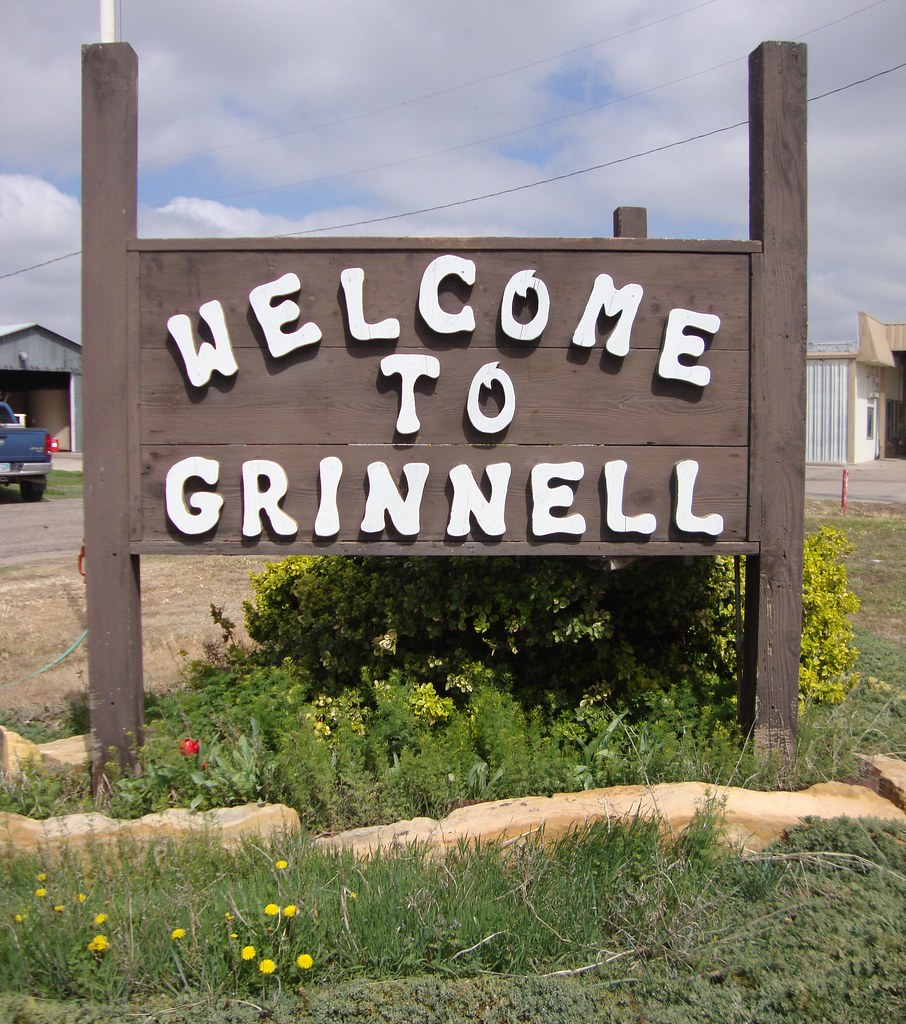 Kansas gove county grinnell -  Welcome To Grinnell Sign Grinnell Kansas By Courthouselover