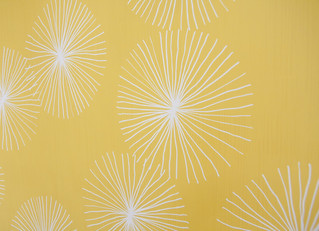 Dandelions - Yellow by friztin | by Spoonflower Fabrics