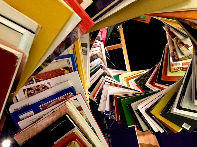 Swirl of books