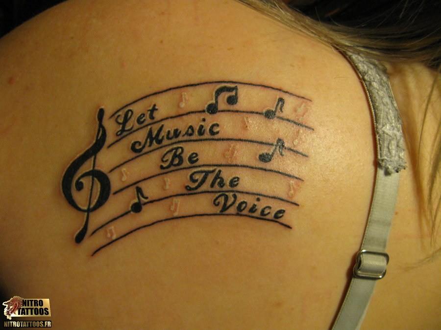Tatouages Notes De Musique Http Www Nitrotattoos Fr Tat Flickr