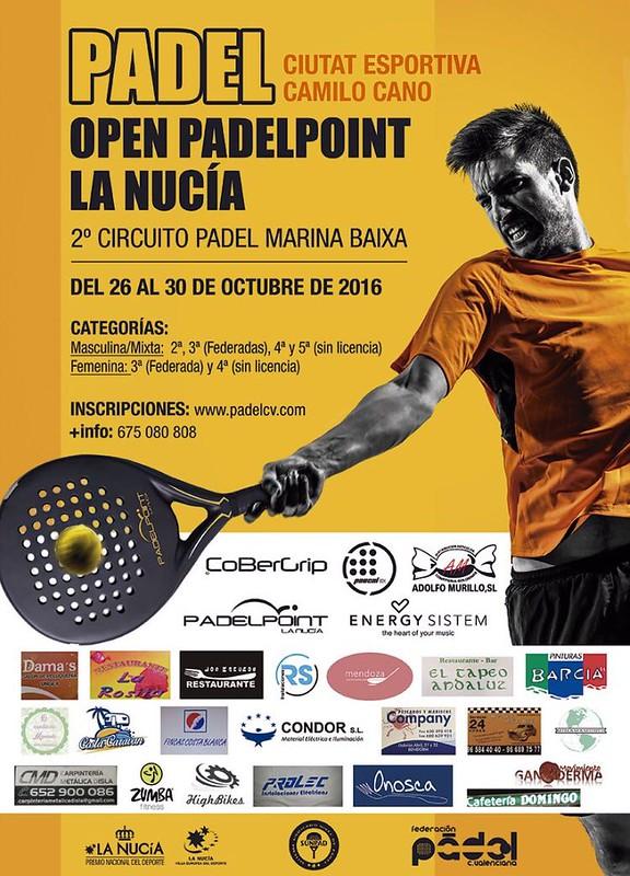 Del 26 al 30 de Octubre Torneo en Padelpoint La Nucía