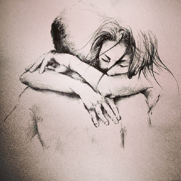 Beautiful illustration love couple truelove draw drawing