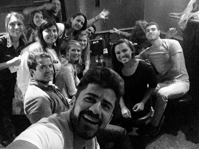irish pub with brasilian people