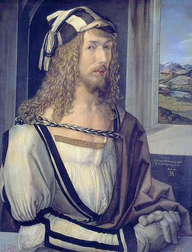 Dürer: Self-portrait with gloves [1498] | by petrus.agricola
