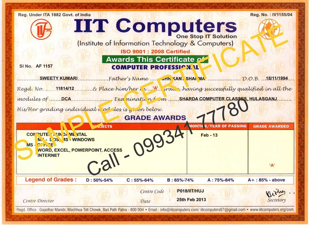 dca sample certificate | bittu_patna | flickr