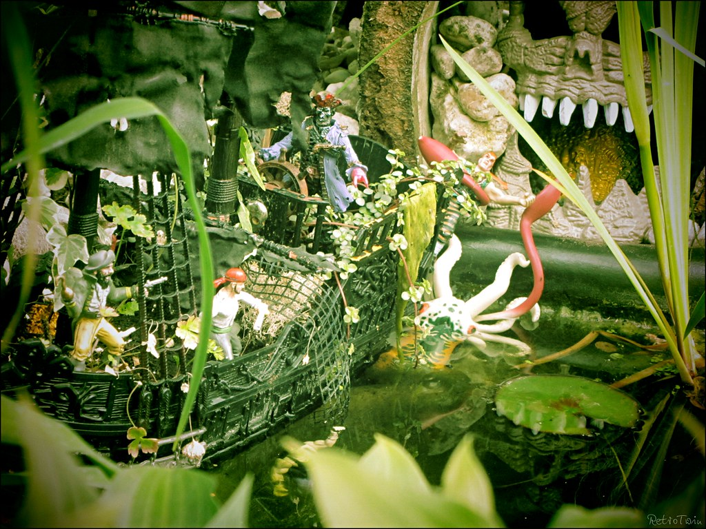 ... VintageReflection pirates @ the garden pond   by VintageReflection