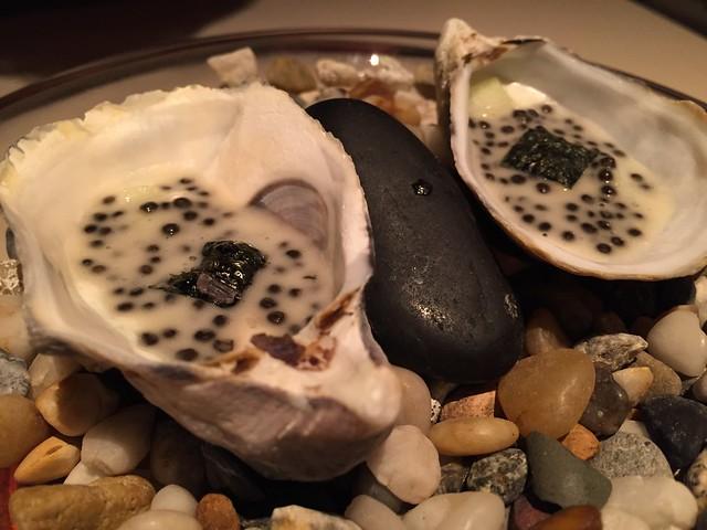 Shikoku oyster, apple and caviar