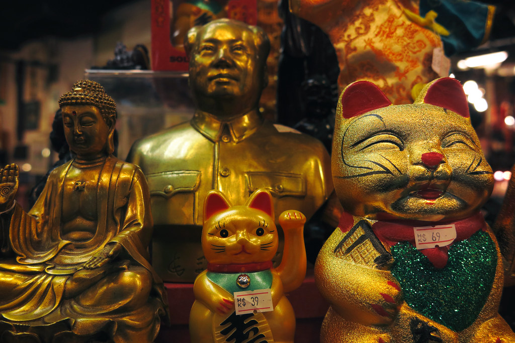 Mao, The Buddha & Lucky Cats, Hong Kong