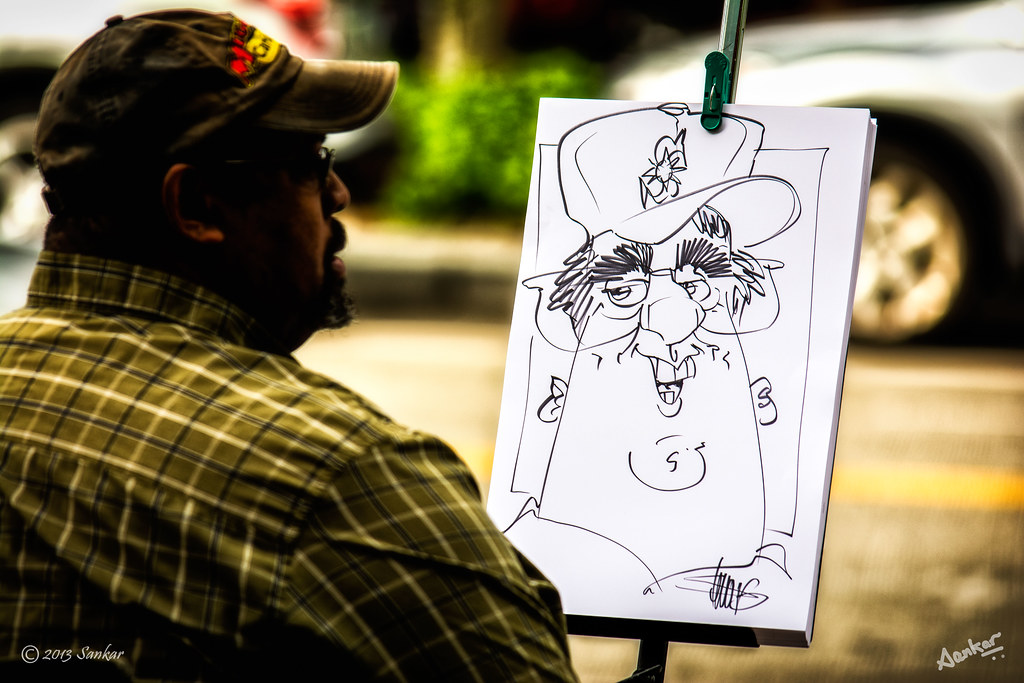 caricature pier 56 seattle wa a caricature artist makin flickr