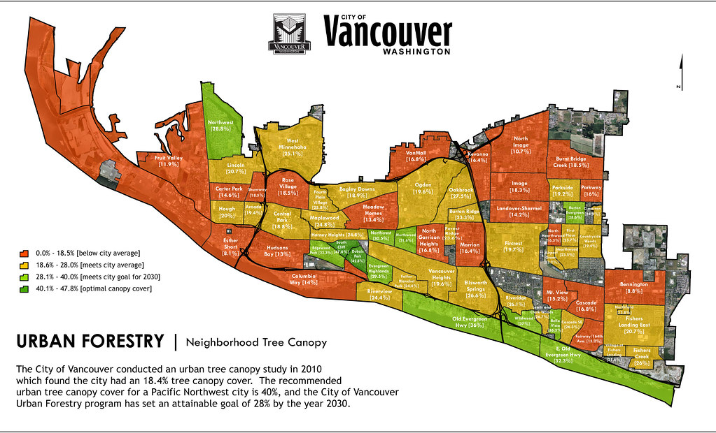 ... Neighborhood Canopy Cover in Vancouver | by Friends of Trees  sc 1 st  Flickr & Neighborhood Canopy Cover in Vancouver | Map made by Ian Bonu2026 | Flickr