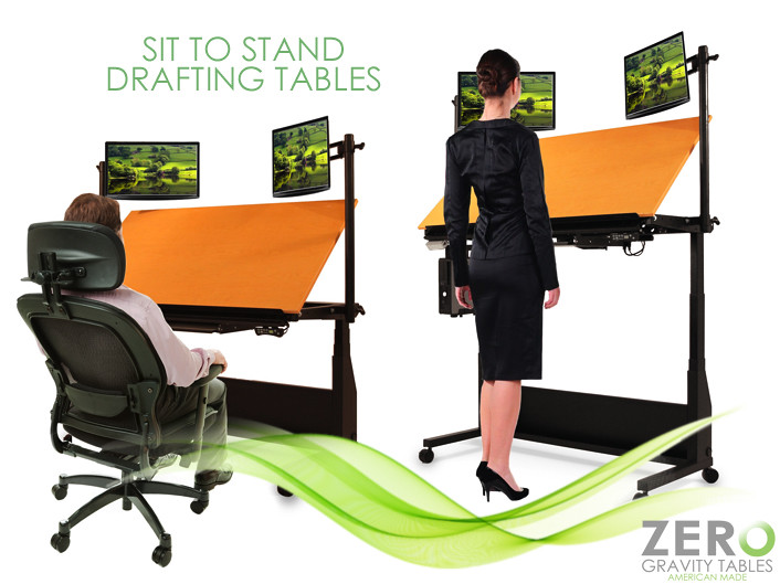 ... Drafting Art Table Sit To Stand Draft Desk Standing Desk Solutions  Office Furniture | By Zero