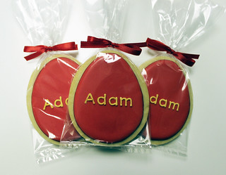 Red Egg & Ginger Party Cookies | by Sugar Mama Cookies - SAN FRANCISCO BAY AREA