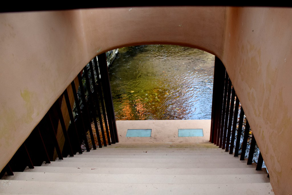... Interior View Of Suspended Staircase Over Bear Run Creek At  Fallingwater, Pennsylvania | By Joseph