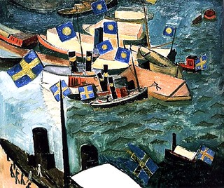 Grunewald, Isaac (1889-1946) - 1914 The Flag in Port | by RasMarley