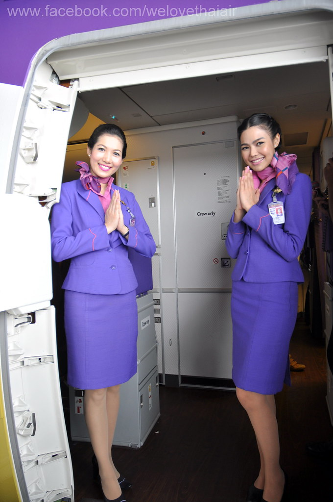 Thai airways air hostess new dress style