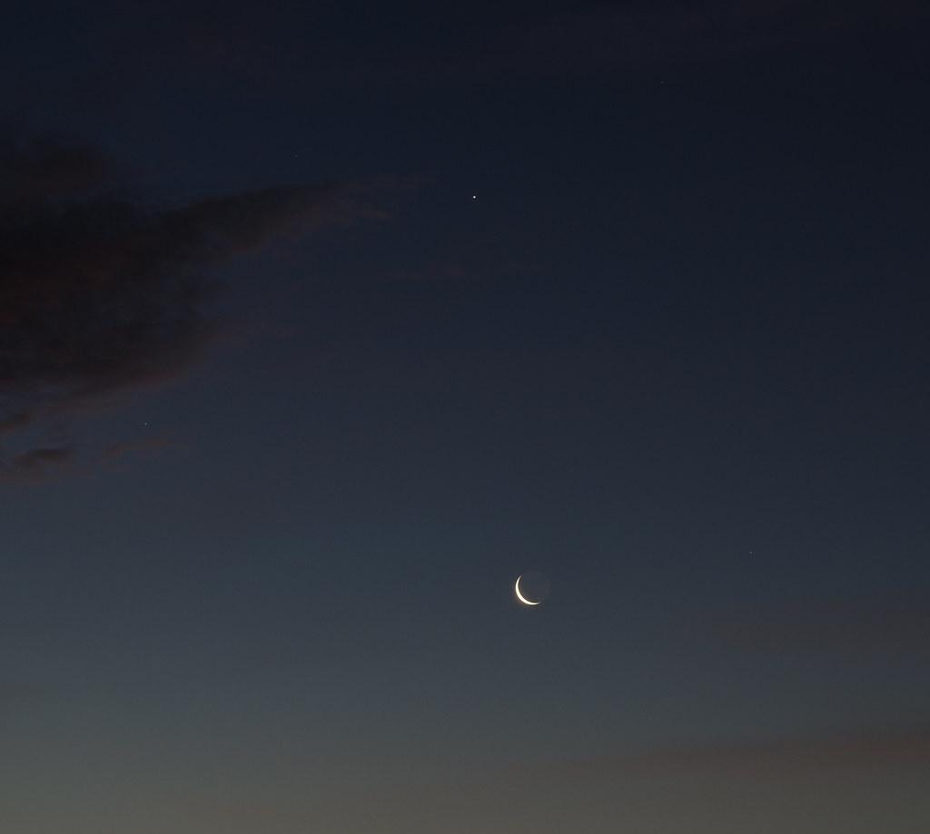 earthshine moon mars jupiter 4 aug 2013 04 31 sculptor lil flickr