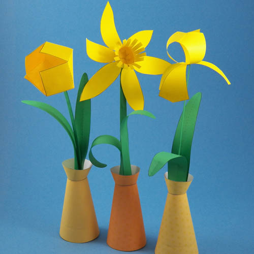 Paper Flowers In Simple Paper Vase Spring Flower Bouquet C Flickr