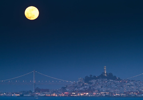 Supermoon over San Francisco | by jrodmanjr