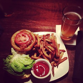Slow burger & tangerine wheat beer. Post Crafty Wonderland tradition! | by a tea leaf