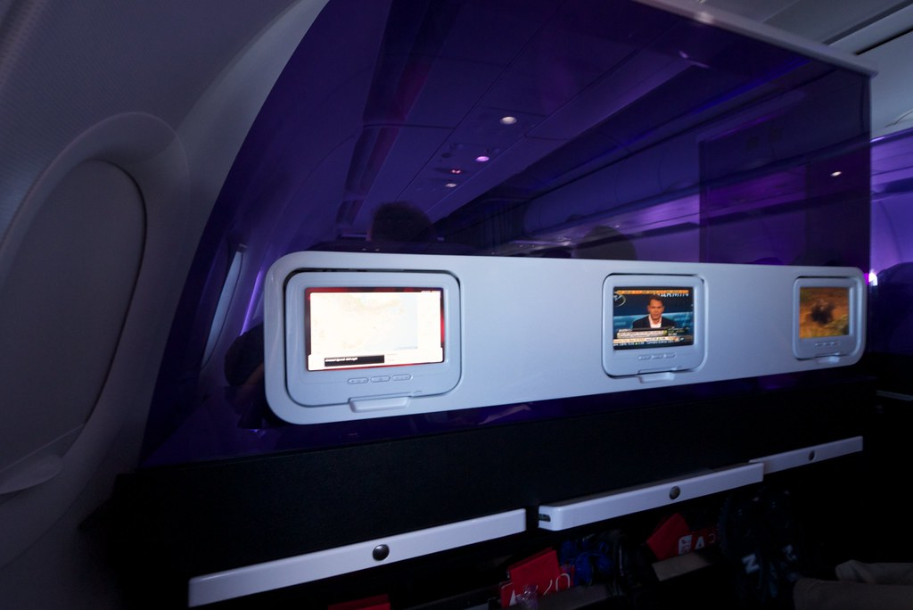 Nice ... Virgin America Main Cabin Select Seat 3A | By Jun Seita