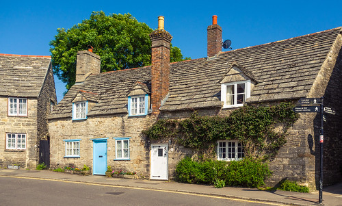 Stonebuilt Cottages In The Pretty Village Of Corfe Castle