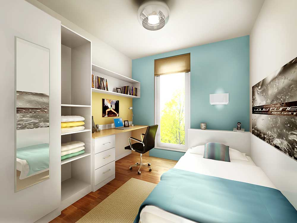 A Townhouse Bedroom On College Lane