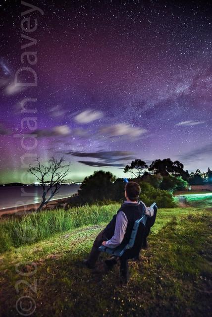 Aurora Australia, Tasmania, Selfish