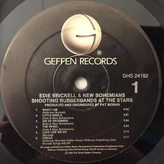 EDIE BRICKELL & NEW BOHEMIANS:SHOOTING RUBBERBANDS AT THE STARS(LABEL SIDE-A)