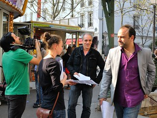 Philippe Poutou candidate for the French presidential election - Abbesses metro Montmartre ( Paris) | by Pantchoa