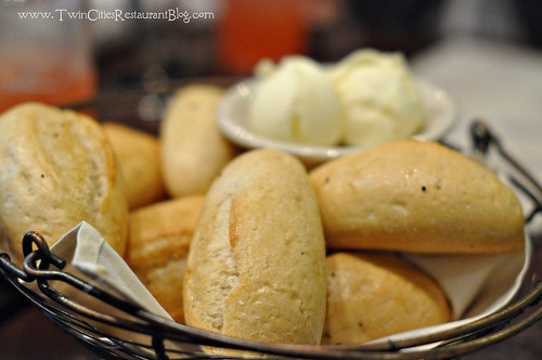 Bakset of Bread with Honey Butter at Rudy's Redeye Grill ~ White Bear Lake, MN | by sweetsauer